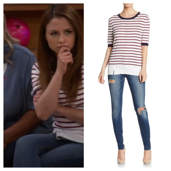 sofia's ivory striped sweater top, young and hungry