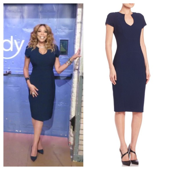 wendy williams navy blue dress, the wendy williams show