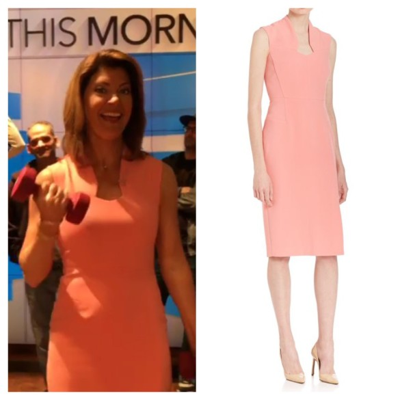 norah o'donnell's pink dress, cbs this morning