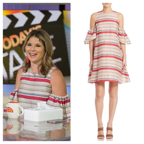 jenna bush hager striped dress, the today show