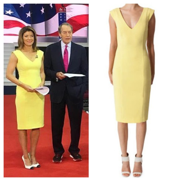 norah o'donnell's yellow dress, cbs this morning