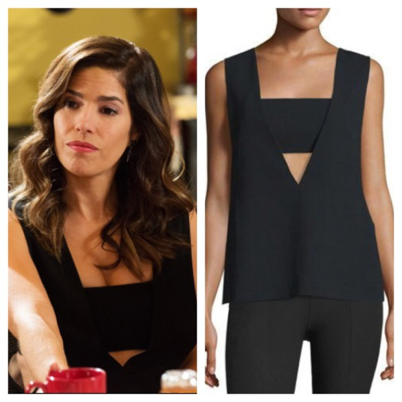 marisol's black cutout top, devious maids