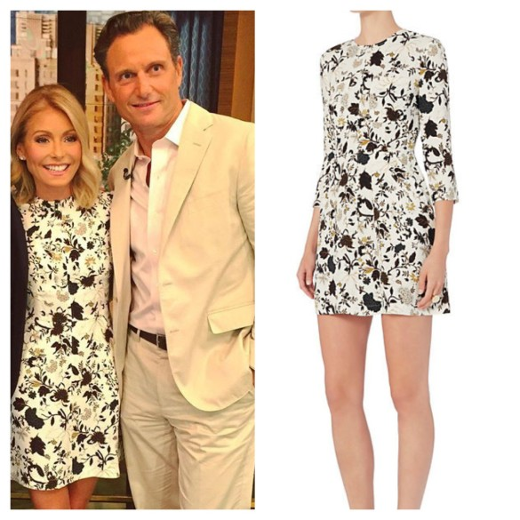 kelly ripa white floral dress, live with kelly