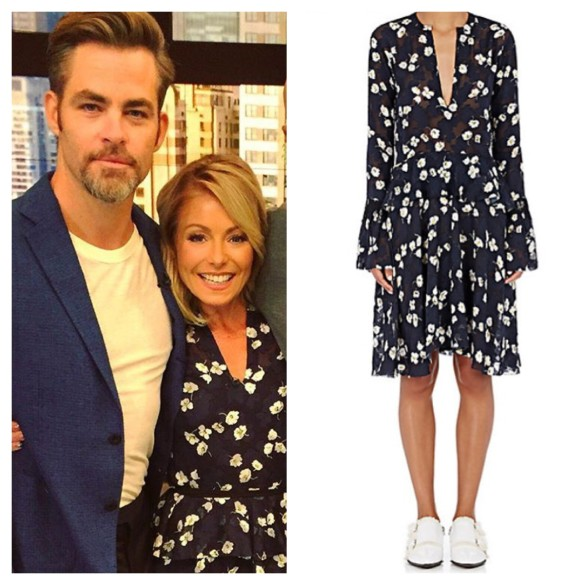 kelly ripa blue floral dress, live with kelly