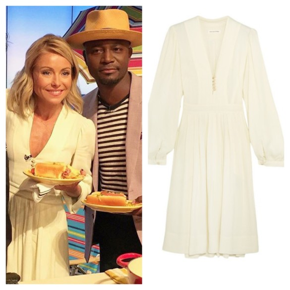 kelly ripa beige dress, live with kelly