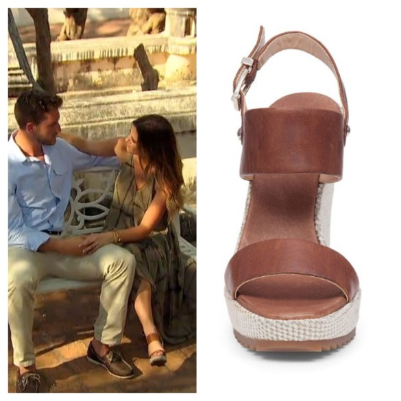 jojo fletcher, brown wedges, the bachelorette