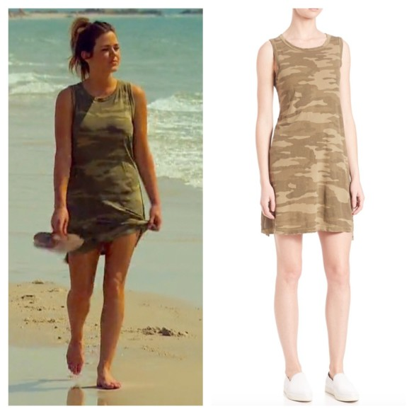 current elliott camo dress, jojo fletcher, fashion, style