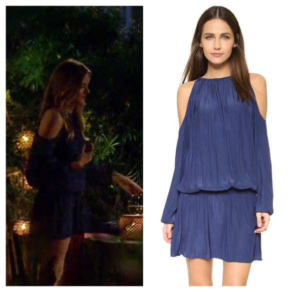 jojo fletcher, navy blue cold shoulder dress, the bachelorette