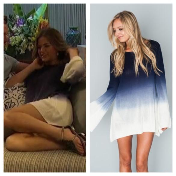mojo's blue and white ombre sweater, the bachelorette