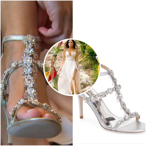 jojo fletcher's crystal evening sandals, the bachelorette finale
