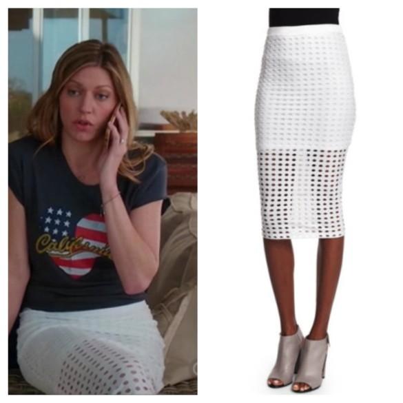 joss's white eyelet pencil skirt, mistresses