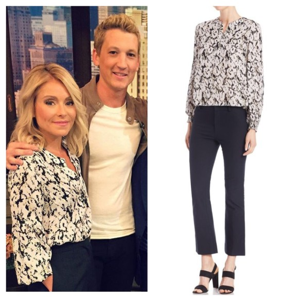 kelly ripa black and white top, live with kelly