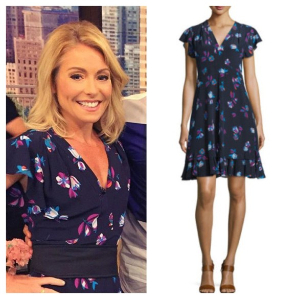 kelly ripa's black floral dress, live with kelly