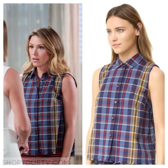 madewell moment madras shirt, chloe's plaid shirt