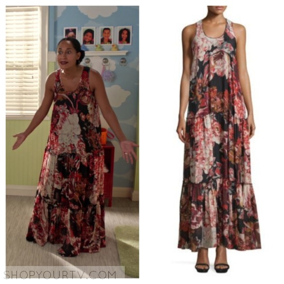 ELIZABETH AND JAMES IZZIE FLORAL SILK MAXI DRESS