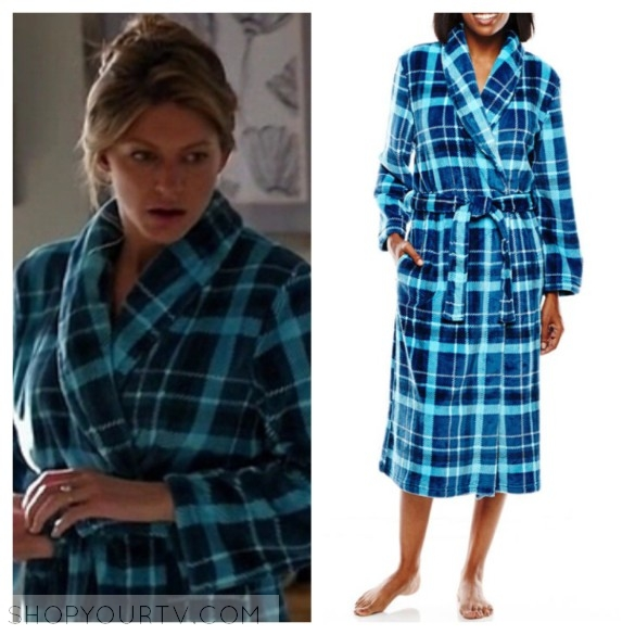 JASMINE ROSE JASMINE ROSE PLAID PRINT WRAP ROBE