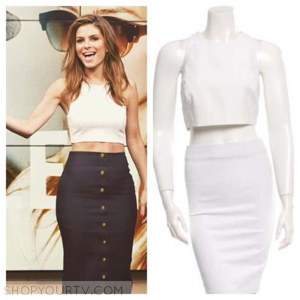 ELIZABETH AND JAMES SLEEVELESS CROP TOP