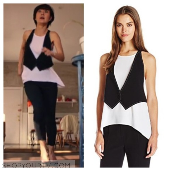 BCBGMAXAZRIA WOMEN'S MARCELLE COLOR BLOCKED TANK