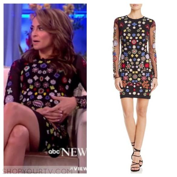 jedediah bila's embroidered floral dress, the view