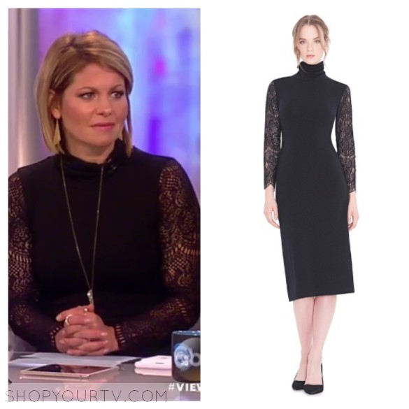 candace cameron bure's black dress, the view