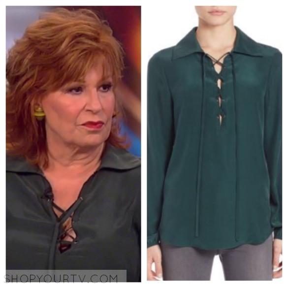 joy behar's green silk blouse, the view