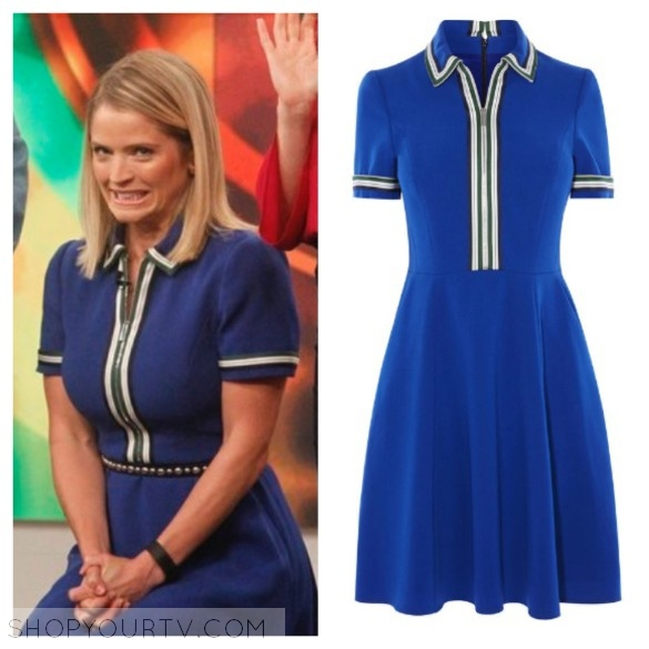karen millen blue polo sporty dress