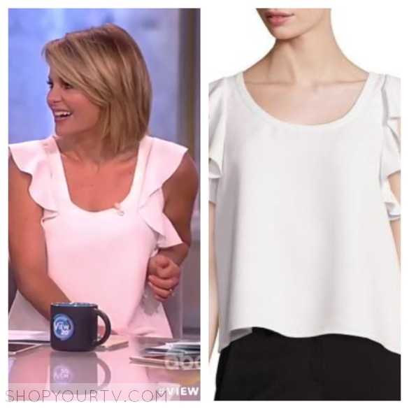 candace's ruffle top, the view