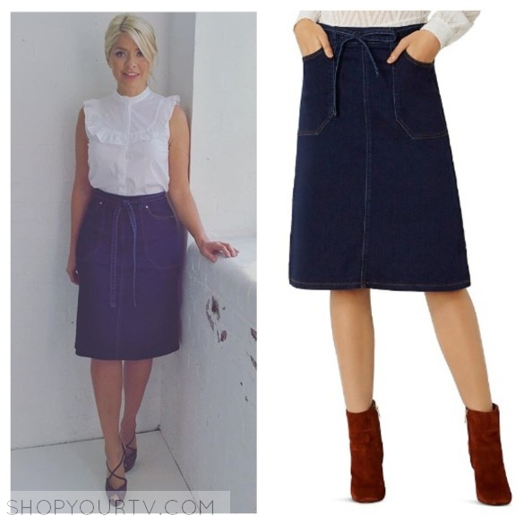 holly willoughby's denim skirt