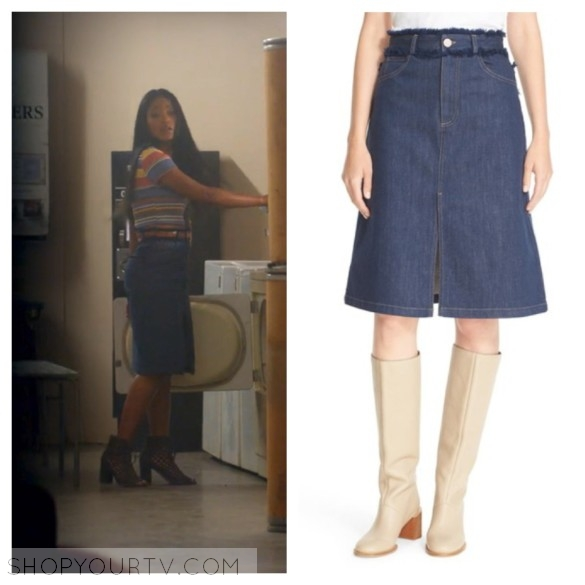 zayday's denim skirt, scream queens