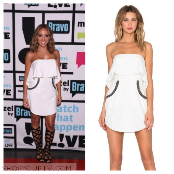 melissa gorga white dress, wwhl