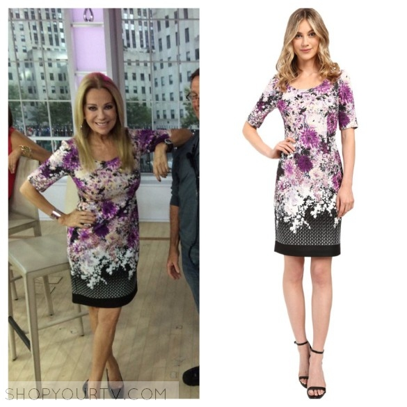 ADRIANNA PAPELL FLORAL AND GEO PRINTED SCUBA SHEATH DRESS