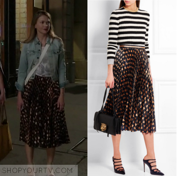 8ad5aa6f0d40 Younger  Season 3 Episode 2 Liza s Black and Gold Skirt