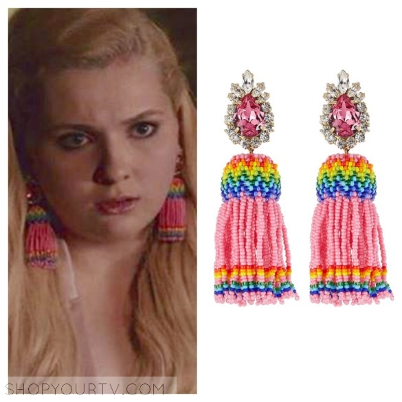 SHOUROUK 'Totem' beaded tassel earrings