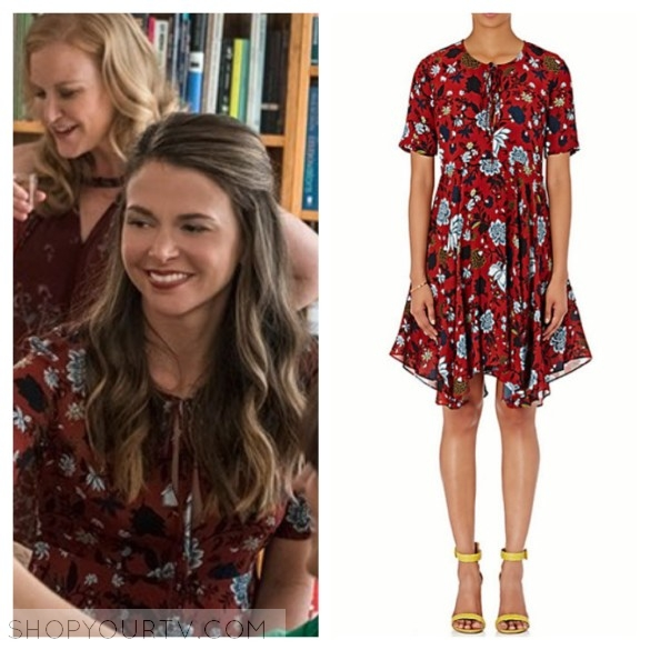 ccc2d01bad85 Younger  Season 3 Episode 3 Liza s Red Floral Print Dress