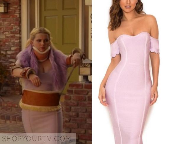 e757ce7078b Scream Queens: Season 2 Episode 5 Chanel #5's Pink Bodycon Dress