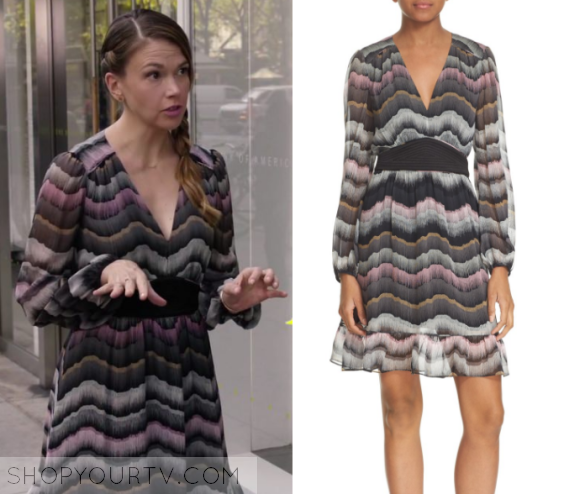 f28a261c13fb Younger  Season 3 Episode 8 Liza s Printed Dress