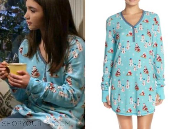 pj Thermal Knit Sleep Shirt