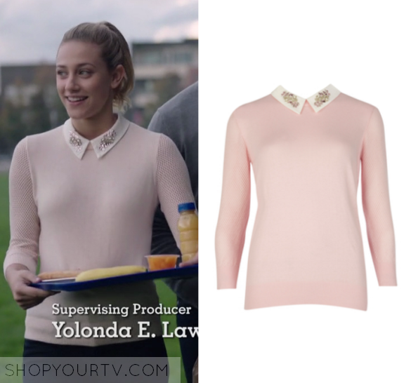 Riverdale Season 1 Episode 2 Betty S Pink Sweater Shop Your Tv