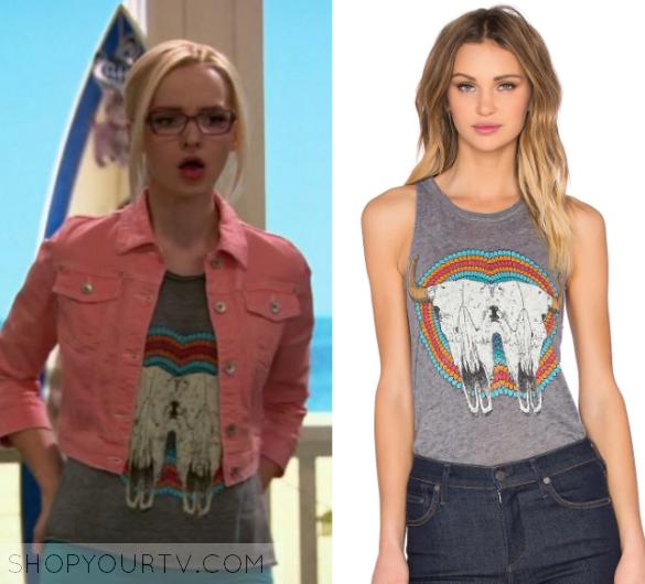 a731bc30 Liv & Maddie: Season 4 Episode 9 Maddie's Skull Print Tee | Shop Your TV