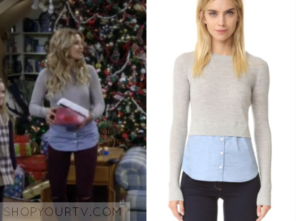 fuller house season 2 episode 12 d j s grey and blue layered sweater