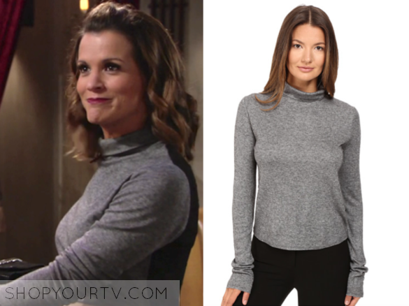 30eaa1e44 The Young and the Restless: February 2017 Chelsea's Grey Turtleneck with  Black Sheer Back