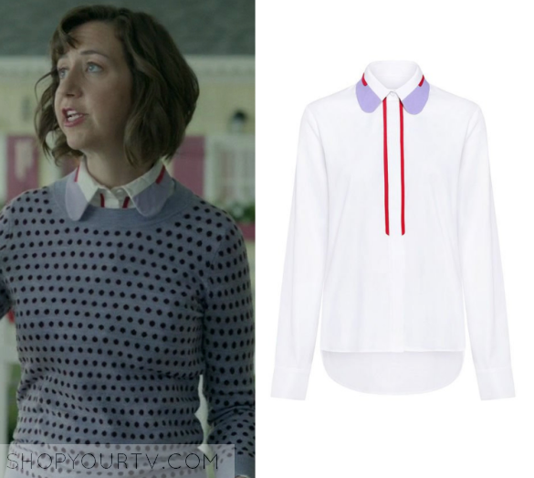 f6abb41477b The Last Man on Earth  Season 3 Episode 9 Carol s Purple Collar Blouse