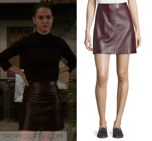 The Fosters: Season 4 Episode 16 Callie's Faux Leather ...