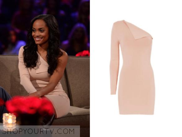 a5d0f509338 The Bachelor  Season 21 Episode 11 Rachel s Blush Pink One Shoulder Dress