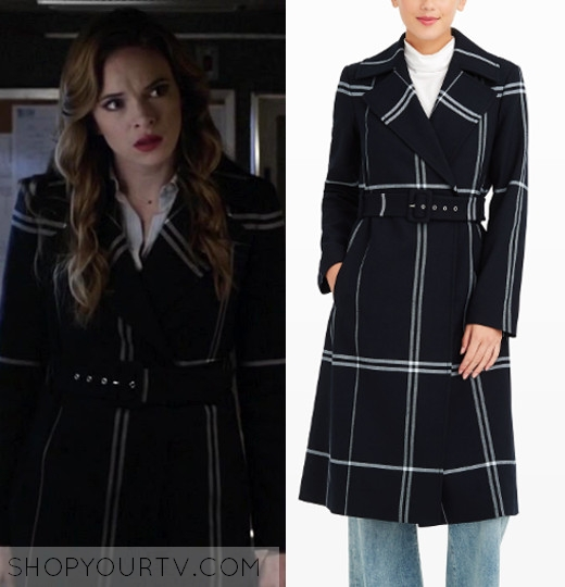f3b486163099bf THE FLASH  SEASON 3 EPISODE 8 CAITLIN S BLACK PLAID COAT