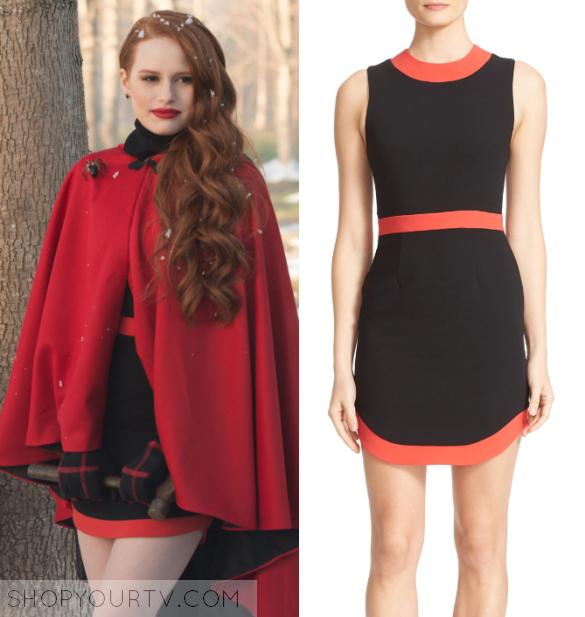 Riverdale: Season 1 Episode 9 Cheryl's Red Trim Dress ...