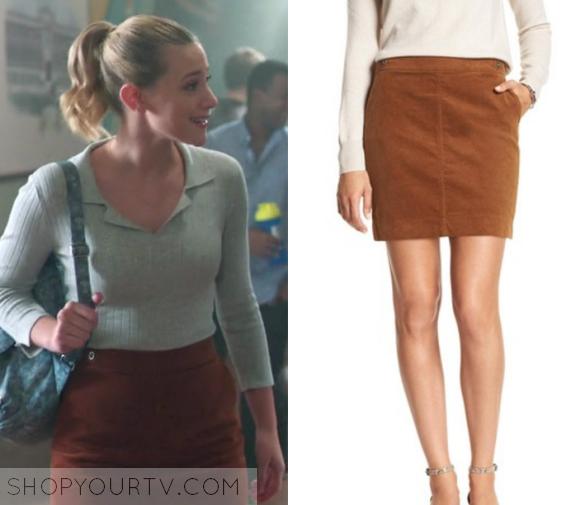 Riverdale Season 1 Episode 10 Betty S Tan Mini Skirt Shop Your Tv