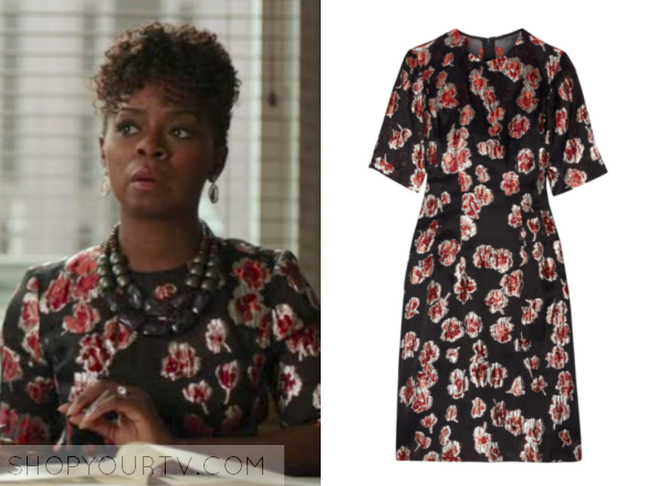 The Good Fight Season 1 Episode 5 Barbara S Black And Pink Floral Jacquard Dress Shop Your Tv From new york university's graduate acting program. the good fight season 1 episode 5