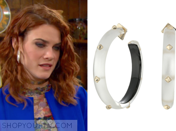 alexis bittar studded hoop earrings