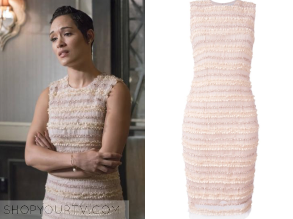Givenchy Sleeveless Micro-Ruffle Cocktail Dress, Pale Pink
